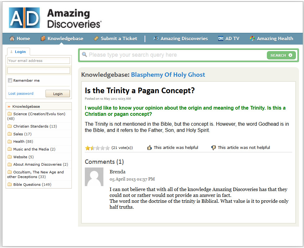 Question: Is the Trinity a Pagan Concept?